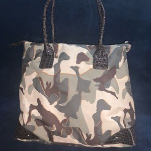 Nicole Miller Large Camouflage Purse